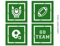 FREE Football Party Printables from Printabelle Football Tailgate, Free Football, Football Themes, Football Birthday, Football Season, Superbowl Decor, Football Party Decorations, Alabama Football, Pittsburgh Steelers