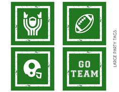 Free football party printables! #superbowl #decorations