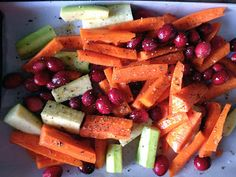 Roasted Roots & Cranberries | A Grateful Life