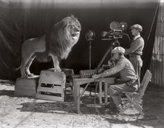 Filming of the MGM screen credits – The beginning of the Hollywood era, 1928. #2 is the most powerful out of all of these...