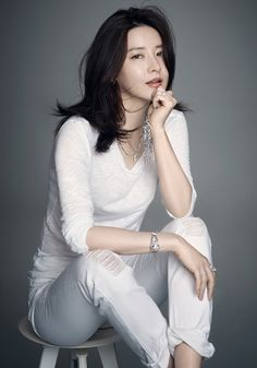 wear all white, editorial photo shoot, blog. Ageless Lee Young Ae For Style Chosun | Couch Kimchi