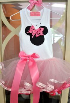Girls Minnie Mouse Tutu Dress Personalize It! Available in 12 Months to 3T - Children's Disney Clothing - Cassie's Closet