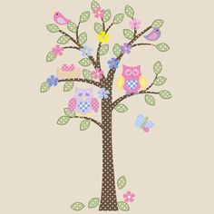 Children Baby Tree Wall Decal Owl Bird Nest @ Etsy Shop