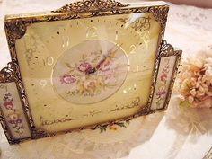 Petit point clock - England, France and antique shops Eglantyne (Egurantinu)