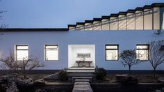 """Office PROJECT's chief designers, Chang Ke and LiWenhan, were charged by their client, artist and """"literati,"""" Doctor Xu Hongquan, with creating a studio for him in Beijing, China's, Huairou District that was a play on juxtapositions."""