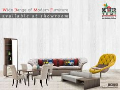 wide range of modern furniture available at Better Home Furniture
