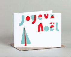 Joyeux Noel card by Yellow Owl Workshop (via Poppytalk)