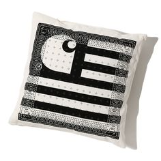 CARHARTT WIP / WIP STATE PILLOW (WHITE/BLACK)