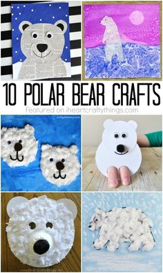animals crafts 10 unbelievably cute polar bear crafts to add to your to-do list this winter. Fun winter kids crafts, arctic animal crafts, and winter crafts. Animal Crafts For Kids, Winter Crafts For Kids, Winter Kids, Toddler Crafts, Kids Crafts, Art For Kids, Clay Crafts, Felt Crafts, Art D'ours