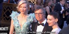 Cate Blanchett, Rooney Mara and Todd Haynes at the 88th Annual Academy Awards
