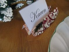 Sew Many Ways...: Tool Time Tuesday...Holiday Place Card Holders