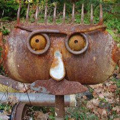BapaTom's Metalworks Portfolio Shovel Head, Barn Tin, Metal Art Projects, Metal Garden Art, Scrap Metal Art, Junk Art, Recycled Art, Yard Art, Welding