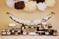 Little Big Company | The Blog: Moustache Party Dessert Buffet for a 40th Birthday by Naatje Patisserie Cupcakes & Cakes and Nomie Boutique Stationery