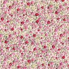 Baumwollstoff Blumen Domburg 6 - rosa