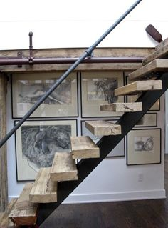 justthedesign:    Rustic Staircase