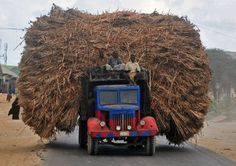 TOPSHOT - People sit on the top of a truck heavily piled with corn-stalks plies as they head for Mogadishu from Afgooye on October At least four police officers were killed on October Get premium, high resolution news photos at Getty Images