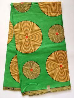 African Print Fabric/ Dutch Wax/ Ankara/ Gorgeous Green