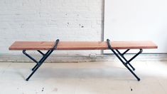 HomeMade Modern, Episode 23 – DIY Pipe Bench. In this episode Ben shows how to make a bench in less than 15 minutes without using power tool...