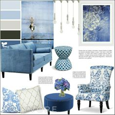 En tonos azules