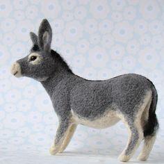 pepadana felting: Oslík donkey