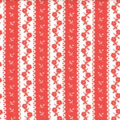 End OF BOLT - -Avalon by Fig Tree - Awning Stripe in Candy Apple Red (20206-14)…