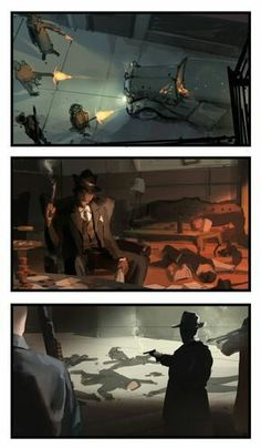 Concept Art of Alex Chin Yu Chu - Portfolio - Godfather: Five Familie Character Inspiration, Character Art, Character Design, Mafia, Call Of Cthulhu Rpg, Color Script, Mobsters, Gothic Horror, Cool Sketches