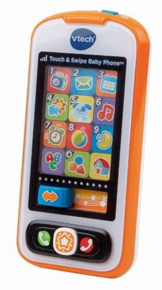 Vivid colors and a touch screen engage your child as they role-play by calling family, friends, or even their stuffed animals. The Touch & Swipe Baby Phone by VTech captures your child's imagination with their very own smartphone for role-play fun. Learning Toys For Toddlers, Toys For Boys, Kids Toys, Stocking Stuffers For Baby, Baby Stocking, Christmas Gifts For Boys, Gifts For Kids, Christmas Toys, Toddler Toys