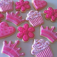 Pink Princess Cookies