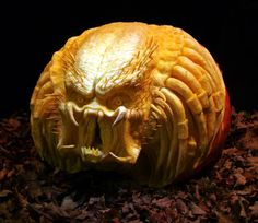 3D creepy pumpkin