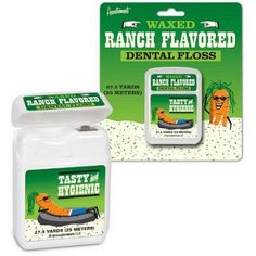 Can't get enough ranch dressing? Ranch Flavored Dental Floss would be perfect for you