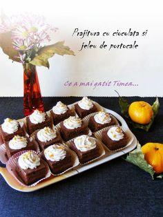 Ce a mai gatit Timea...: Prajitura cu ciocolata si jeleu de portocale