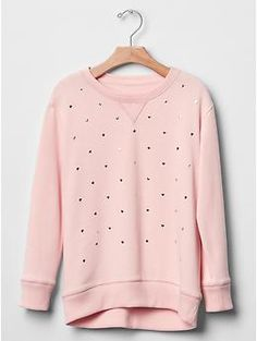 Heart-embellished sweatshirt tunic | Gap