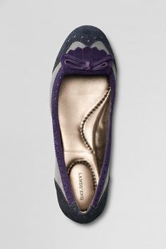 Lands' End Emma Tailored Ballet Shoes $49.50 Are you kidding me, @Deb Eakin? Imma be a copy cat...