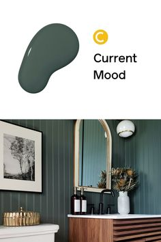Painting your bathroom? Try our deep green paint color, Current Mood!