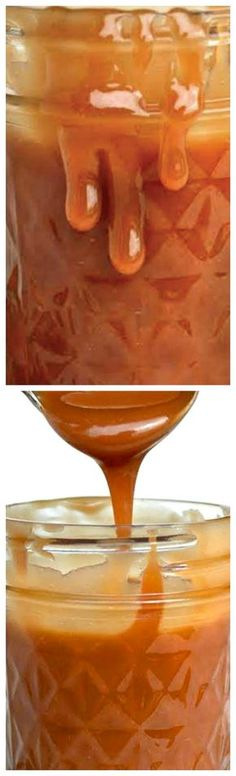 Easy Homemade Caramel Sauce ~ This thick, rich, decadent sauce is unbelievably easy to make at home... You'll never want store bought Caramel Sauce again!