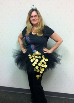 Pot Of Gold tutu costume for work - St. Patricks Day 2015!