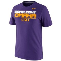 Watch LSU in the 2013 NCAA College World Series wearing this Domin Eight tee from Nike!