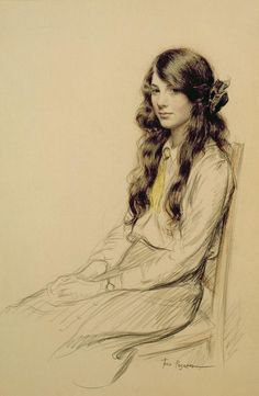 Portrait of a Young Girl, Frederick Pengram