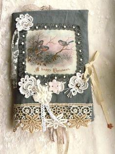 carnet textile pour Noël