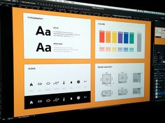 "A selection of UI and brand style guides by talented designers. ""Style Guides by Pro Designers"" is published by Emma Drews in Inspiration Supply. App Ui Design, Branding Design, Brand Manual, Image Sheet, Brand Style Guide, User Experience Design, Design Language, Style Tile, Brand Guidelines"