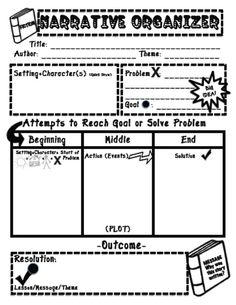 Narrative Writing Organizer-Working 4 the Classroom