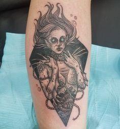 Fresh Acid Bath inspired tattoo by Ryan Rumsey from Tattoo Machine Gun in Jeffersonville In. Done at Louisville Villain Arts Tattoo Convention.