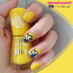 who is excited to watch the new @minionnation movie?emoji thanks @wondermary_aboutnails for this cute naildesign! #essence #longlastinglove #essencecosmetics #cosmetics #nails #nailpolish #thegelnailpolish #naildesign #nails2inspire #nailsoftheday #notd #nail #nailstagram #naildesign #loveisintheair #minions #movies #newrelease #despicableme #minionspremiere #cute #weloveminions