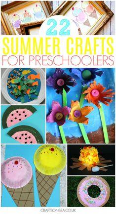 summer crafts for preschoolers preschool easy fun #preschool #kidscraft #craft #summer #toddler