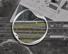 Bridges Architecture, Dynamic Architecture, Architecture Concept Drawings, Architecture Graphics, Architecture Details, Landscape Architecture, Landscape Plans, Urban Landscape, Landscape Design