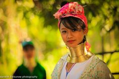 A women from the Long Neck Tribe in Chiang Mai, Thailand