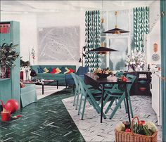 1950s Modern Design - Living Room by Armstrong
