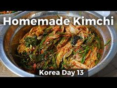Home-Cooked Korean Food: The BEST Kimchi! (Day 13) - YouTube  Interesting kimchi recipe, broth base instead of rice flour paste