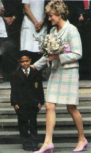 May 10, 1993: Princess Diana during her visit to Great Ormond.