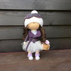 Hechos a mano tela muñeca aviador muñeca decoración por Oxanita